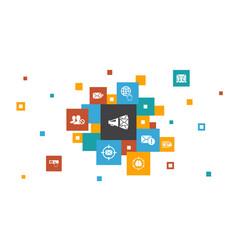Email marketing infographic 10 steps pixel design vector