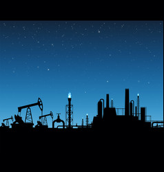 Extraction of gas and oil industrial plant vector