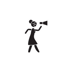 feminism protest black concept icon vector image