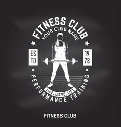 fitness centre badge vector image