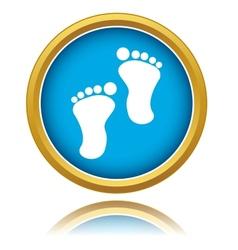 Footprints icon vector