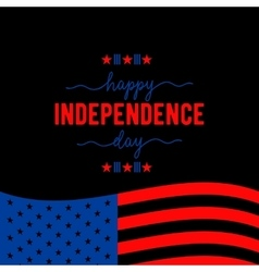 Fourth of July background Felicitation classic vector image