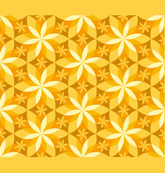Geometric vanilla flower seamless pattern vector