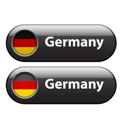 Germany flag buttons vector