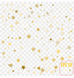 golden confetti on transparent background falling vector image