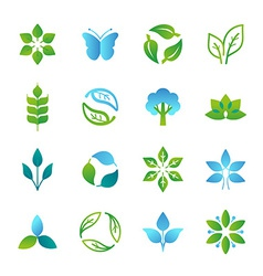 green logos and emblems vector image
