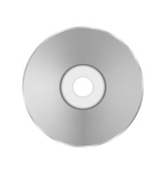Grey Compact Disc vector image