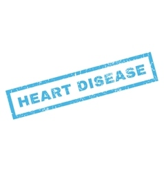 Heart Disease Rubber Stamp vector image