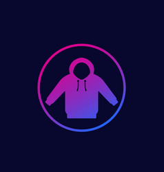 Hoodie icon in circle vector