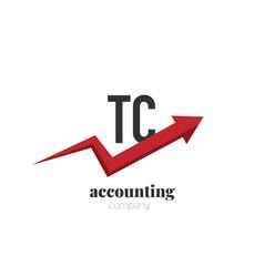 initial letter tc creative finance - money vector image