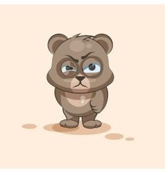 Isolated Emoji character cartoon Bear sticker vector