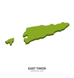Isometric map of East Timor detailed vector image