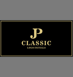 Jp monogram classic logo design inspiration vector