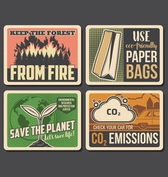 Keep forest from fire save planet environment vector