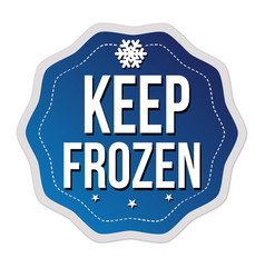 keep frozen label or sticker vector image
