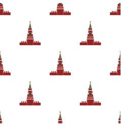 Kremlin icon in cartoon style isolated on white vector