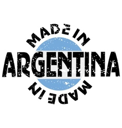 Label Made in Argentina vector