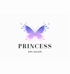 label of spa salon princess vector image