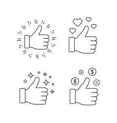 like linear icons set vector image