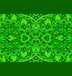 line art with green abstract seamless pattern vector image