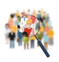 Looking for a person in the crowd vector image