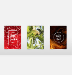 marble texture covers set colorful artistic vector image