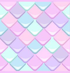 mermaid scales seamless pattern vector image