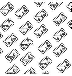 Message envelope background vector