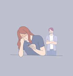 Misunderstanding and divorce concept vector