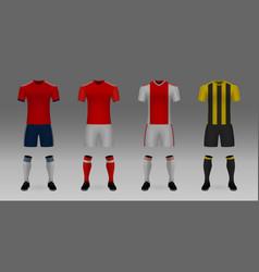 Mockup of football team uniform vector
