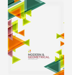 Modern colorful geometrical triangles with shiny vector