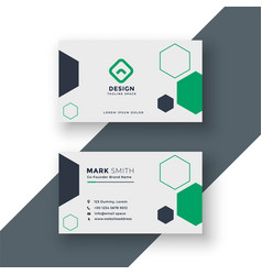 Modern medical doctor business card vector