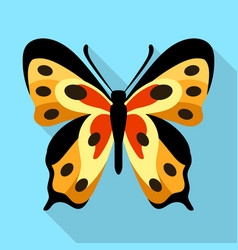 Monarch butterfly icon flat style vector