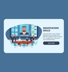 Negotiation skills business people vector