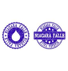 niagara falls grunge stamp seals vector image