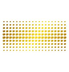 olive golden halftone grid vector image
