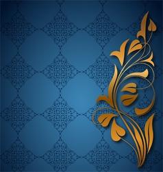 Ornamental blue background vector