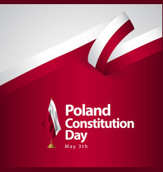poland constitution day flag template design vector image