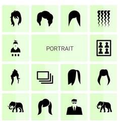 Portrait icons vector