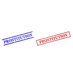 Prostitution grunge scratched seal stamps vector