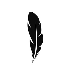 quill feather icon simple style vector image