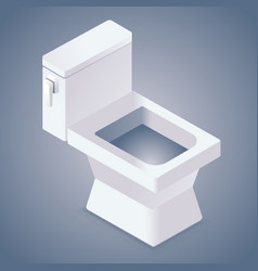 Realistic toilet icon vector