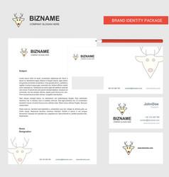 Reindeer business letterhead envelope and vector