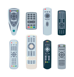 remote controllers for tv electronic control vector image