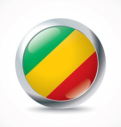 Republic of Congo flag button vector image