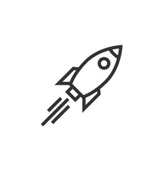 rocket icon graphic design template vector image