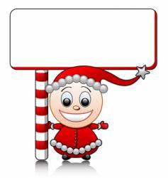 Santa's helper vector