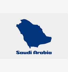 saudi arabia map logo vector image