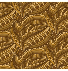 Seamless pattern with hand drawn waves and lines vector image