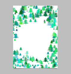 seasonal christmas design page template - blank vector image